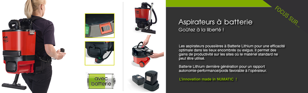ASPIRATEURS A BATTERIE