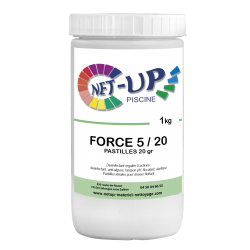 Chlore multifonction pastille 20g FORCE 5