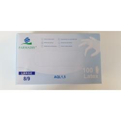 Gants latex Poudrés T 8/9 X100