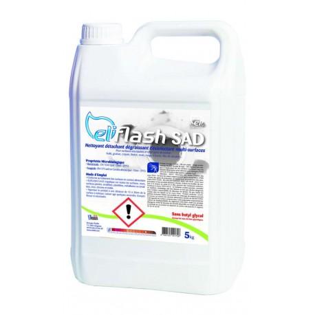 Détachant désinfectant dégraissant alimentaire 5kg  ELIFLASH SAD