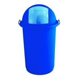 Poubelle GABIPUSH Bleue 50L