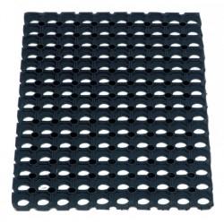 Caillebotis en caoutchouc noir 100 x 150cm