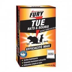 Fury tue rats et souris 6 sachets de 25g